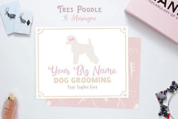 Premade Pet Groomer Logo Tres Poodle Dog Grooming Pet Grooming