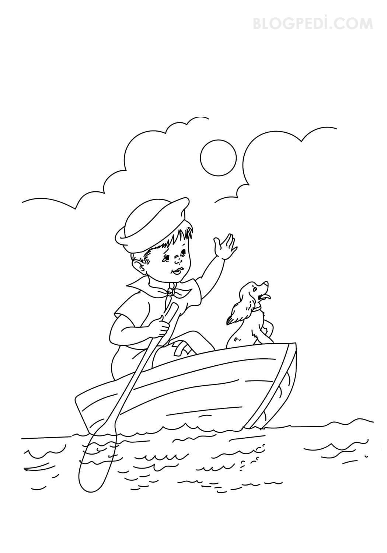 çocuklar Için En Güzel Gemi Boyama Resimleri Okul öncesi Etkinlikler