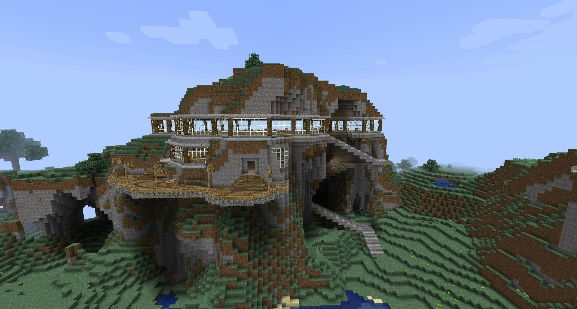 Minecraft mountain house images for Mountain house media