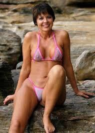 Bikini milf Seethrough