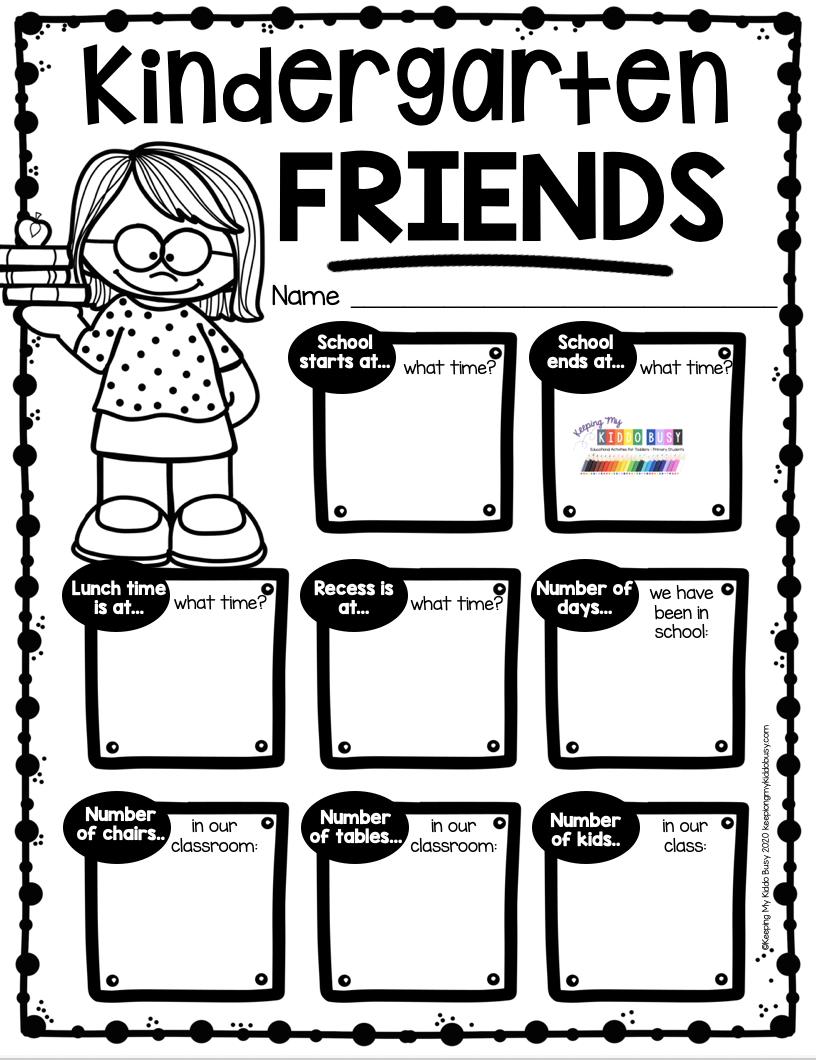 End Of The School Year In Kindergarten Free Printables Keeping My Kiddo Busy Kindergarten Writing Prompts Memory Book Kindergarten Kindergarten Worksheets [ 1060 x 816 Pixel ]