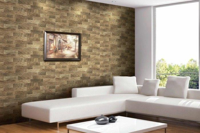 Wandfliesen Wohnzimmer als eine wundervolle Alternative ...