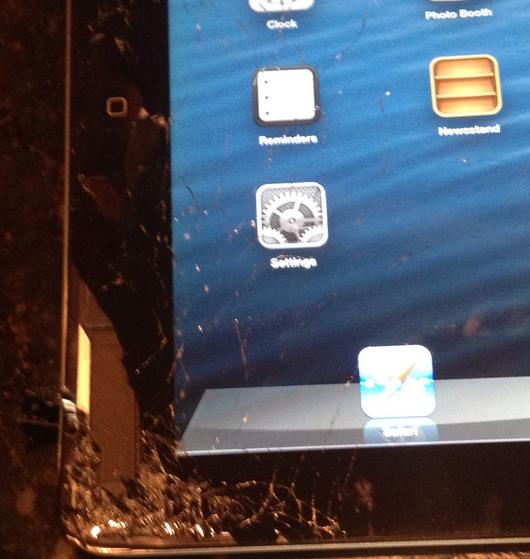 Tennis Champion Andy Roddick Smashed His iPad — Here's A Photo Of The Damage #ZAGGdaily #AndyRoddick #smashediPad