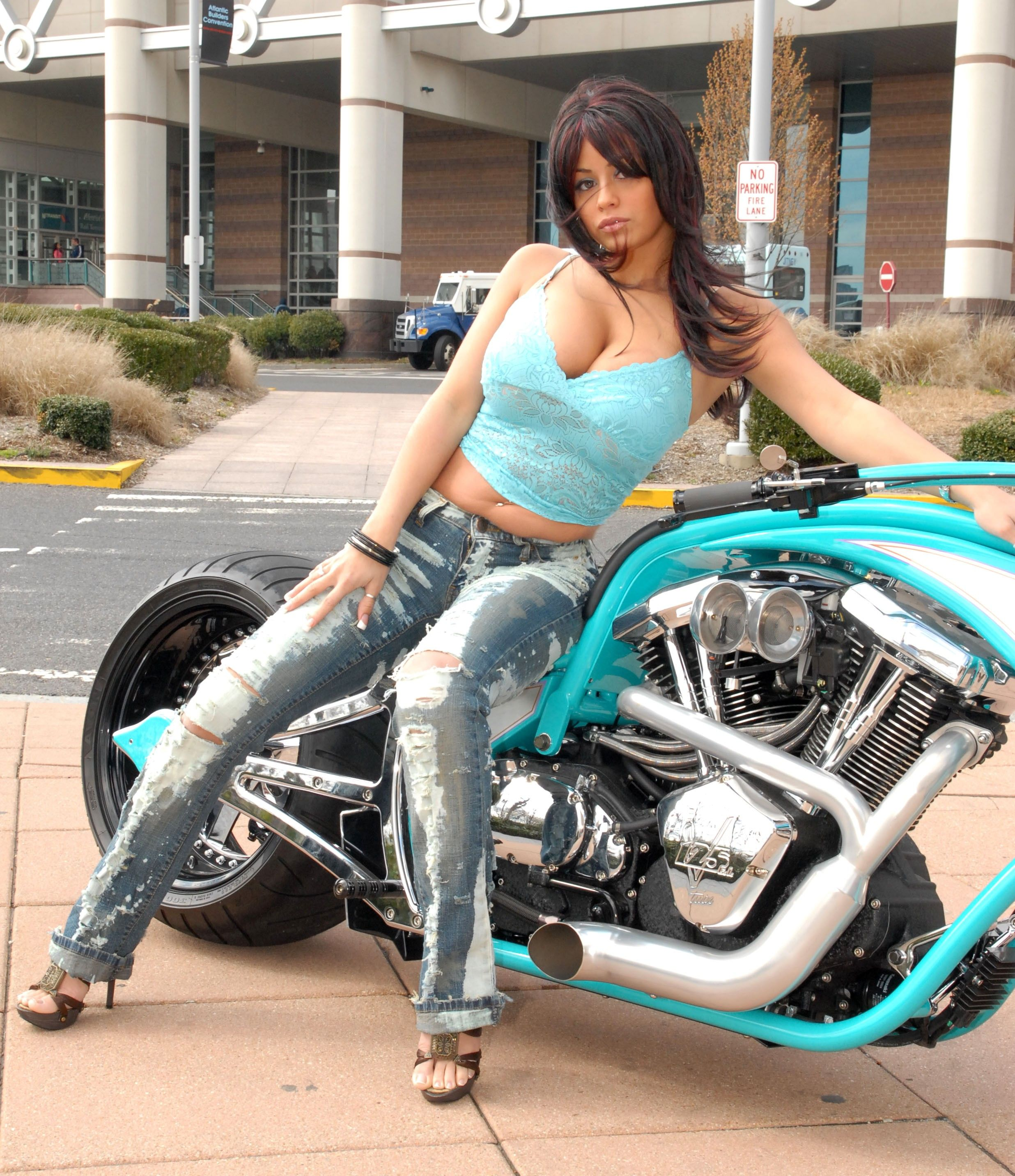 Sexy babes with bikes