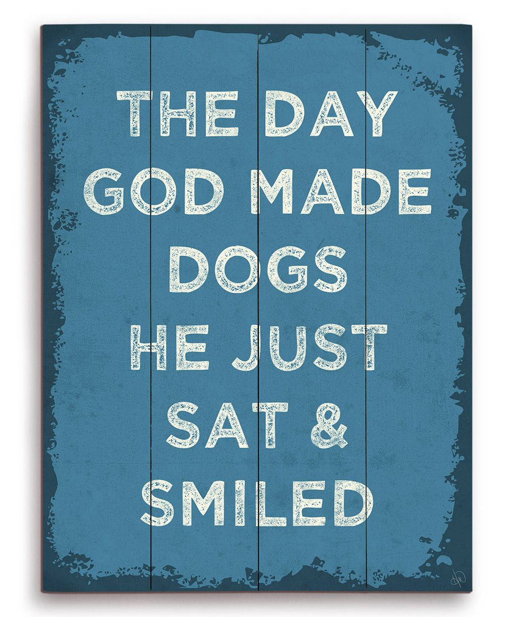 Image Canvas The Day God Made Dogs Wall Art