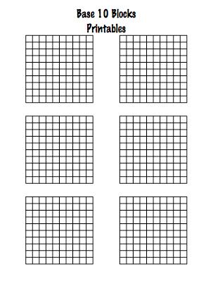 Base 10 Block Template Picture | Mathematics | Pinterest