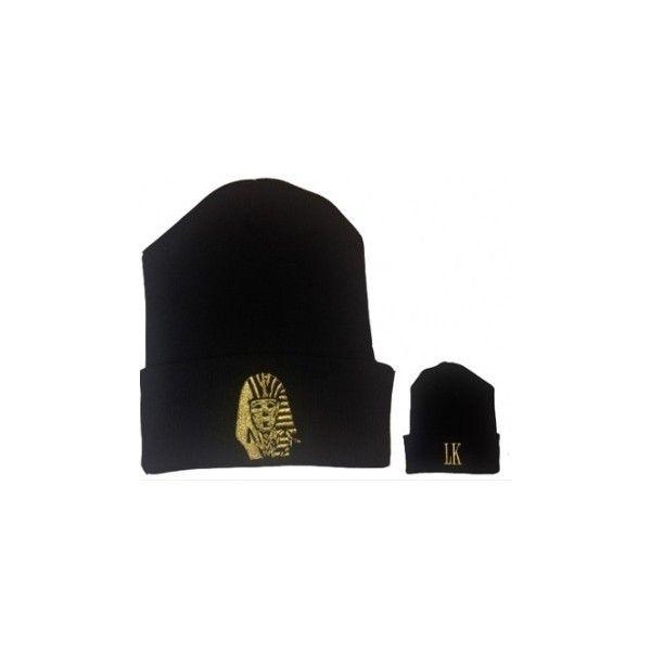 0ac9beb2d Last Kings Black Gold Logo Beanie Hat ❤ liked on Polyvore ...