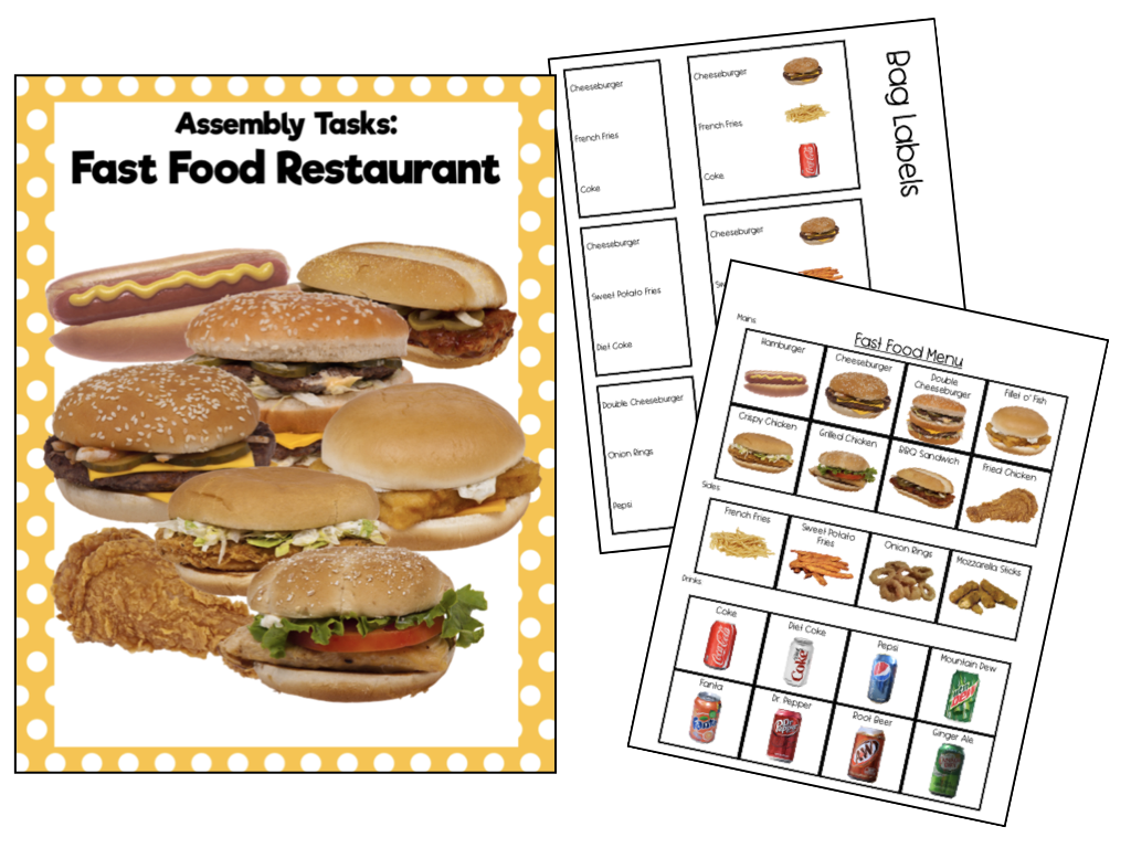 Fast Food Orders Life Skills Assembly Tasks For