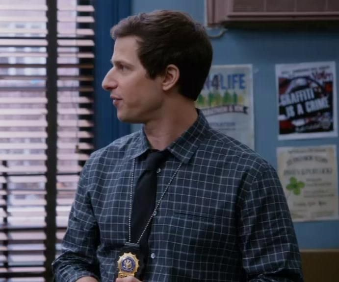 Jake Looks Cool In His Checkered Shirt And A Black Tie