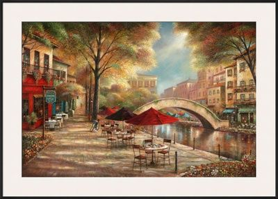 Riverwalk Café Framed Art Print at AllPosters.com