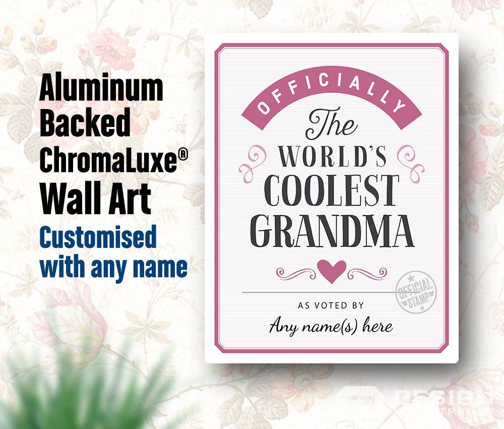 Grandma Gift For New Birthday To Be Print Picture Frame Personalized Delivered Your Door