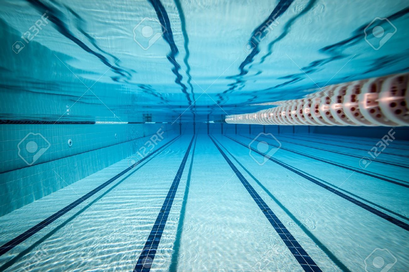 stock photo swimming pool - Olympic Swimming Pool Underwater