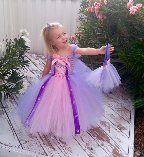 Rapunzel Princess Dress Disney Costume Tangled Birthday