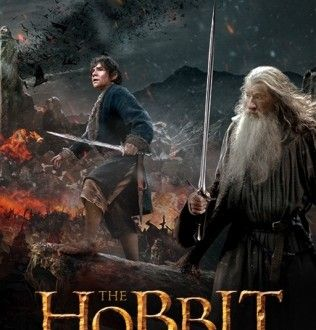 The Hobbit The Battle Of The Five Armies 2014 400mb Dual Audio The Hobbit Hobbit Poster Battle