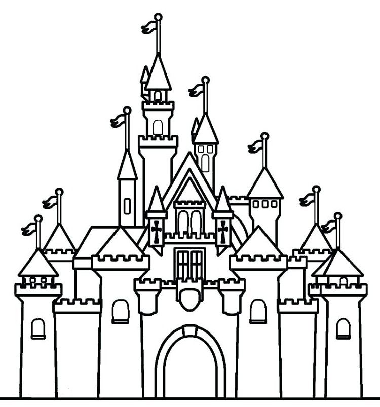 Cinderella Castle Coloring Pages Castle Coloring Page Disney Castle Drawing Castle Pictures