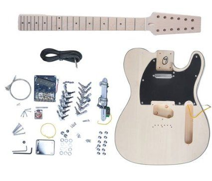 12 string diy electric guitar builder kit makes a 12 string tele solid body. Black Bedroom Furniture Sets. Home Design Ideas