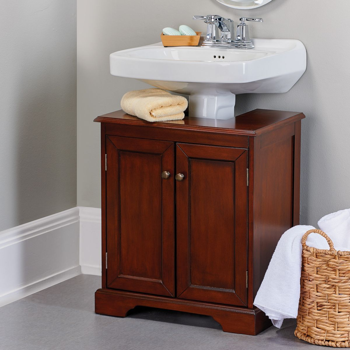 Weatherby Bathroom Pedestal Sink Storage Cabinet | Pedestal sink ...