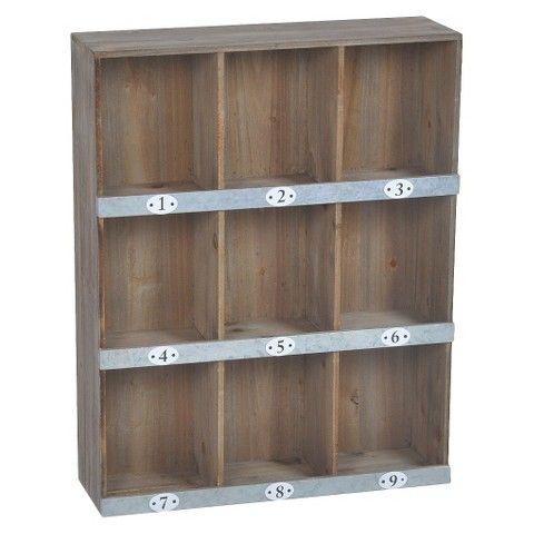 Wooden Wall Shelf 9 Slot Wooden Wall Shelves Wall Shelves Shelves