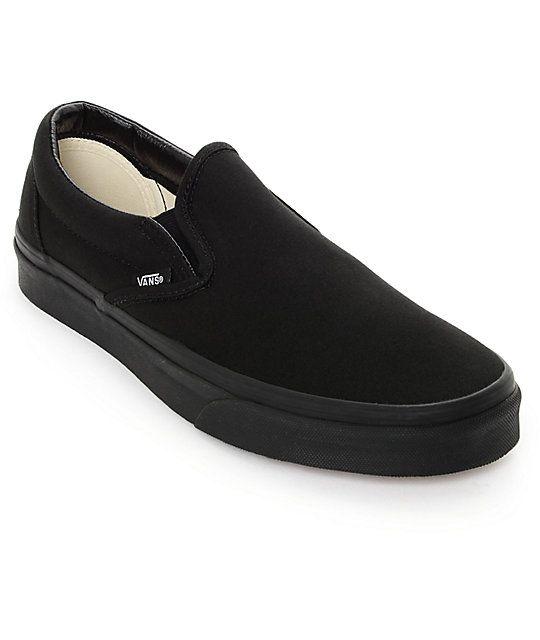 761c515c0e4 Vans Classic Slip On Black Monochromatic Shoes