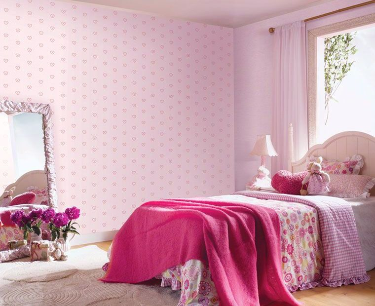 Cute Pink Rooms Pleasing Cute Baby Pink Wallpaper For Girl Room Ideas  Charming Children's