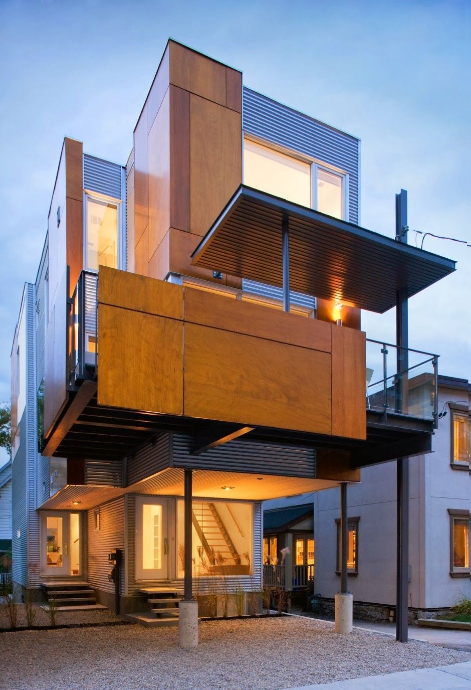 Phenomenal ultra modern european house, wood and concrete. I have ...