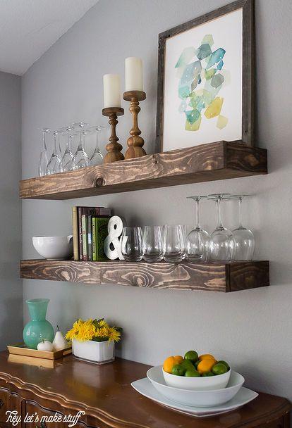 Superbe Dining Room Storage With Floating Shelves, Diy, Organizing, Shelving Ideas, Storage  Ideas