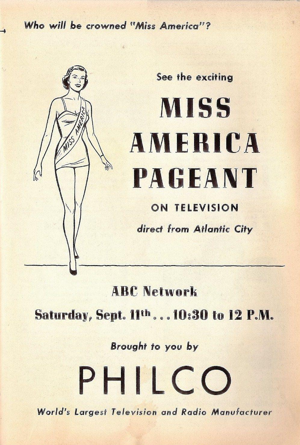 Miss America 1955 Pageant Held September 1954