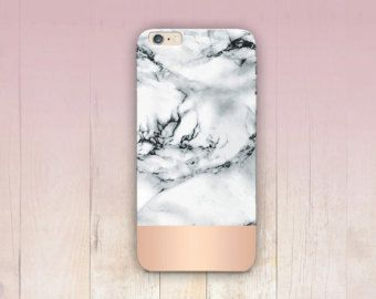coque iphone 7 plus marbre gold rose