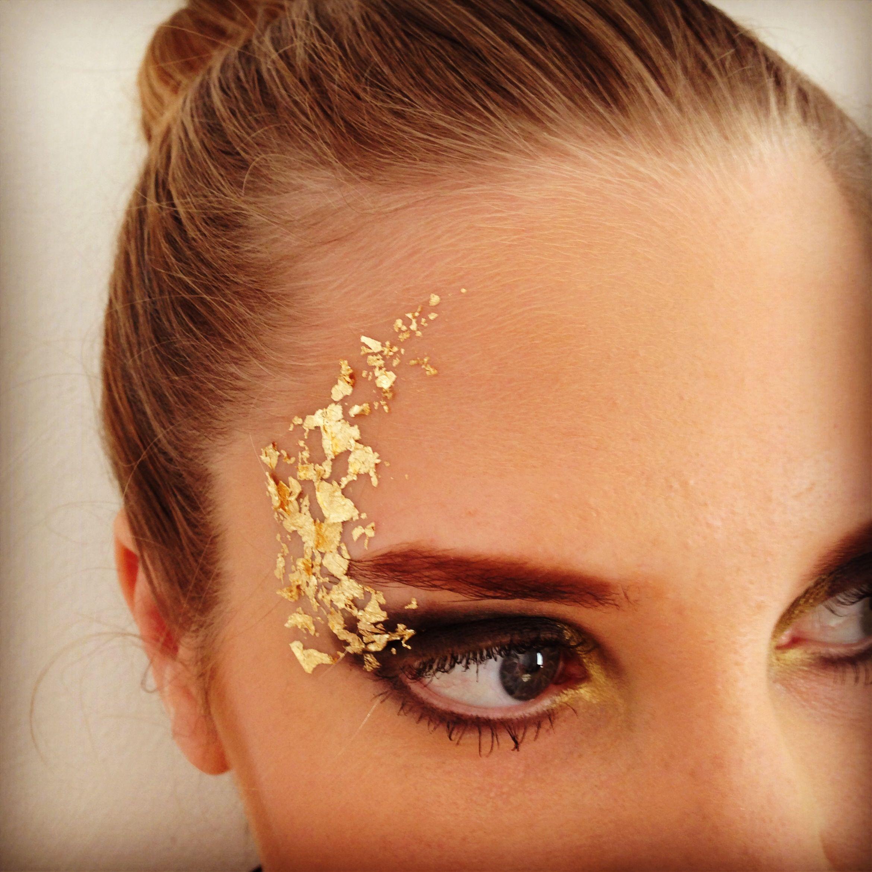 Gold leaf makeup Gold makeup