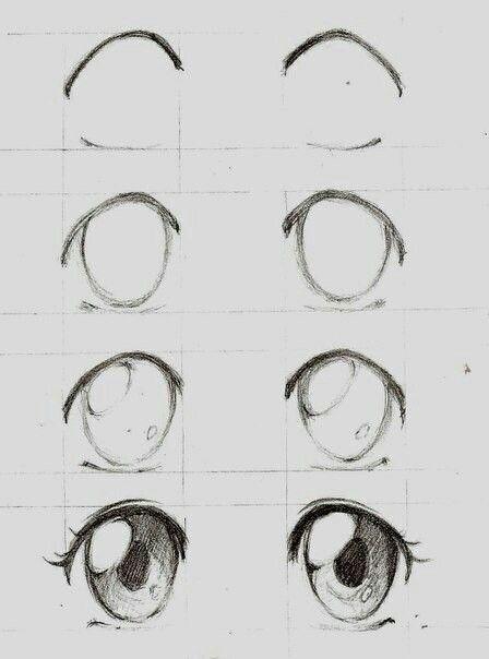 Olhos Anime Manga Passo A Passo Dibujos De Ojos Dibujar Ojos De Anime Ojos Manga