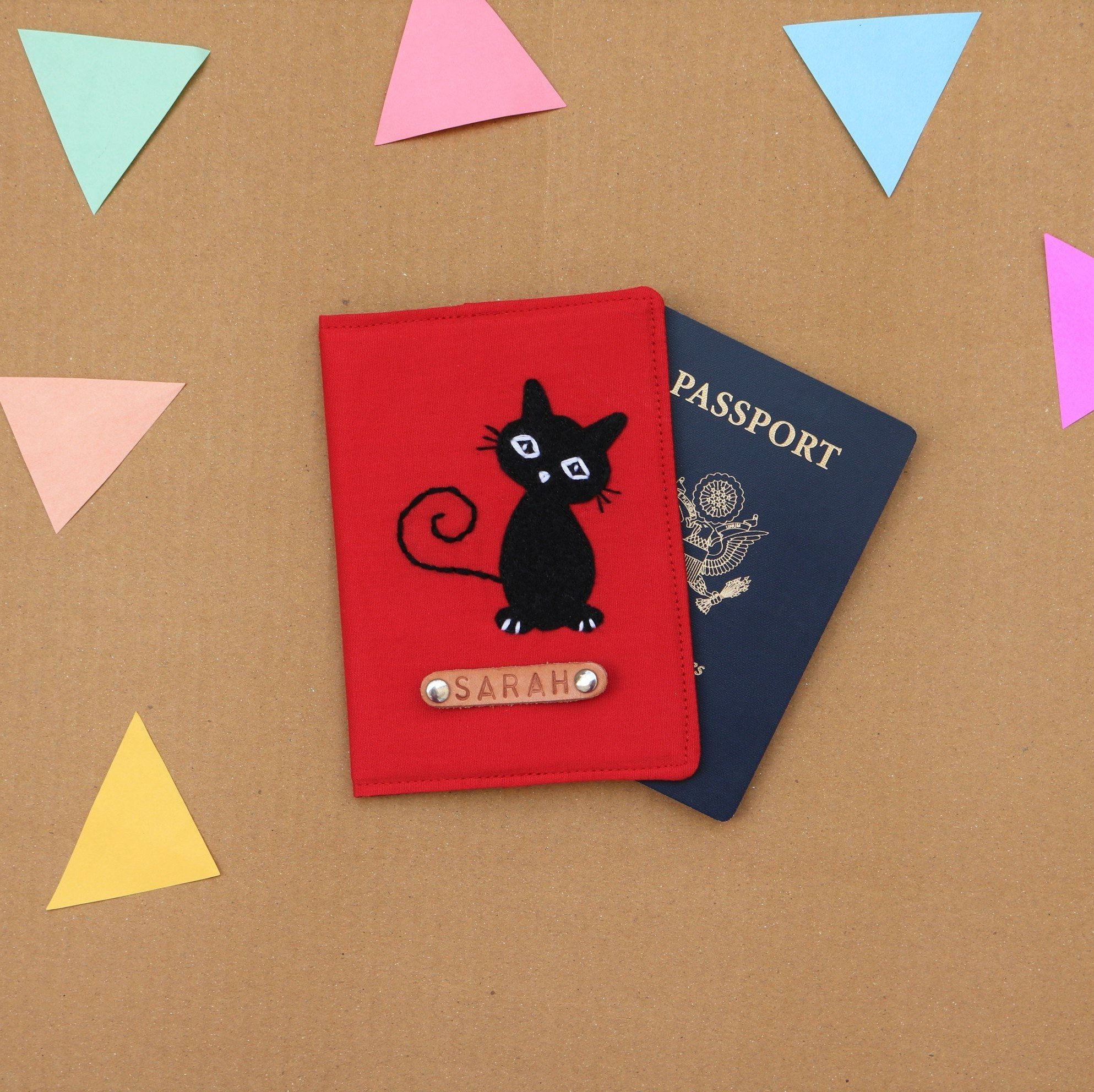 Cat Personalized Passport Cover, Cat lover Christmas Gift, Thanksgiving Gift #thanksgivinggiftsforteachers