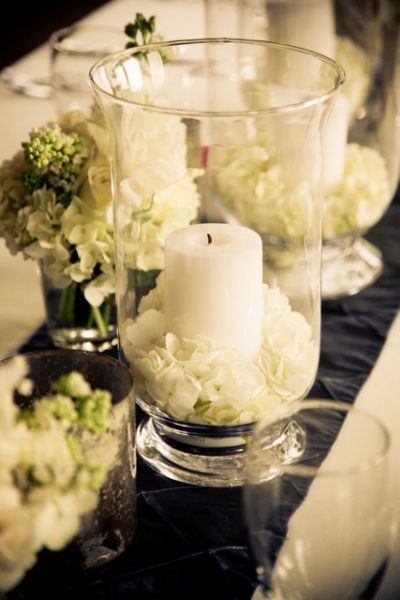 Hurricane Vase Wedding Centerpieces Floral Pinterest