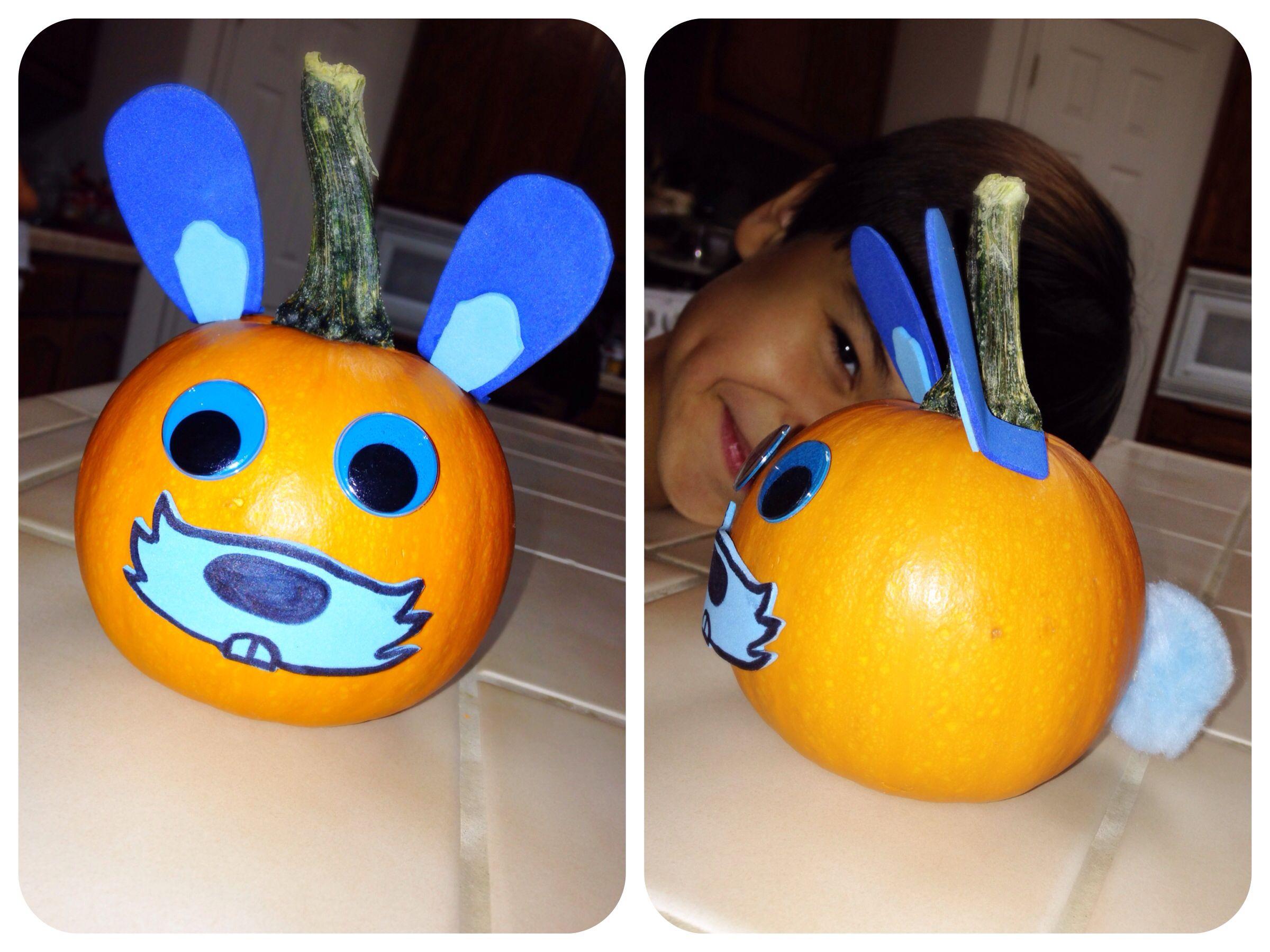 Bunny pumpkin - homemade