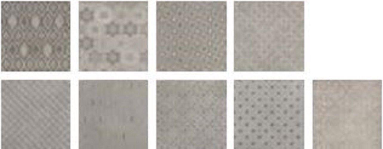 Emilceramica #Kotto Decors Dekò texture Cenere 20x20 cm 027P8RD - fliesen für die küche