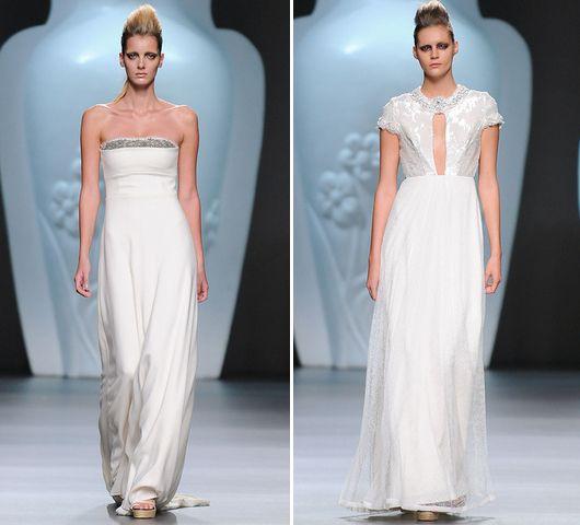 Perfectas propuesta para vestidos de novia alternativos {Ana Locking, Colección PV-2013} #vestidosdenovia #weddingdresses #tendenciasdebodas