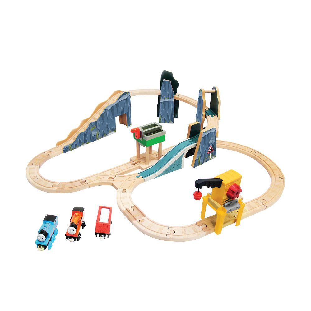 thomas friends wooden railway set quarry set tomy thomas friends wooden railway sets. Black Bedroom Furniture Sets. Home Design Ideas