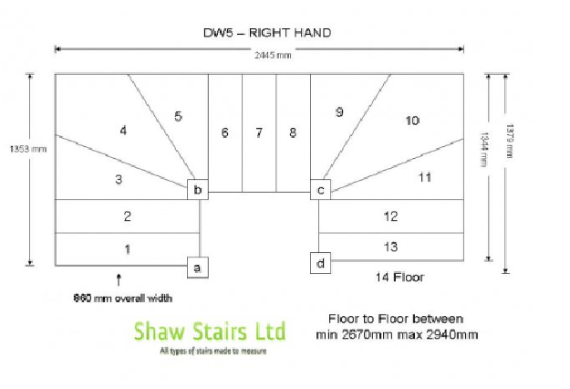 High Quality Our Double Winder Stairs Are Designed To Turn Through Two 90 Degree Turns  180 Degrees Each