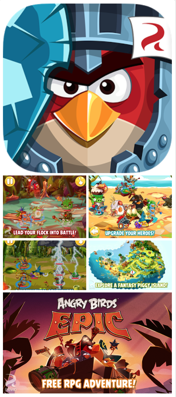 NEW RELEASE Angry Birds Epic — role playing for kids (free