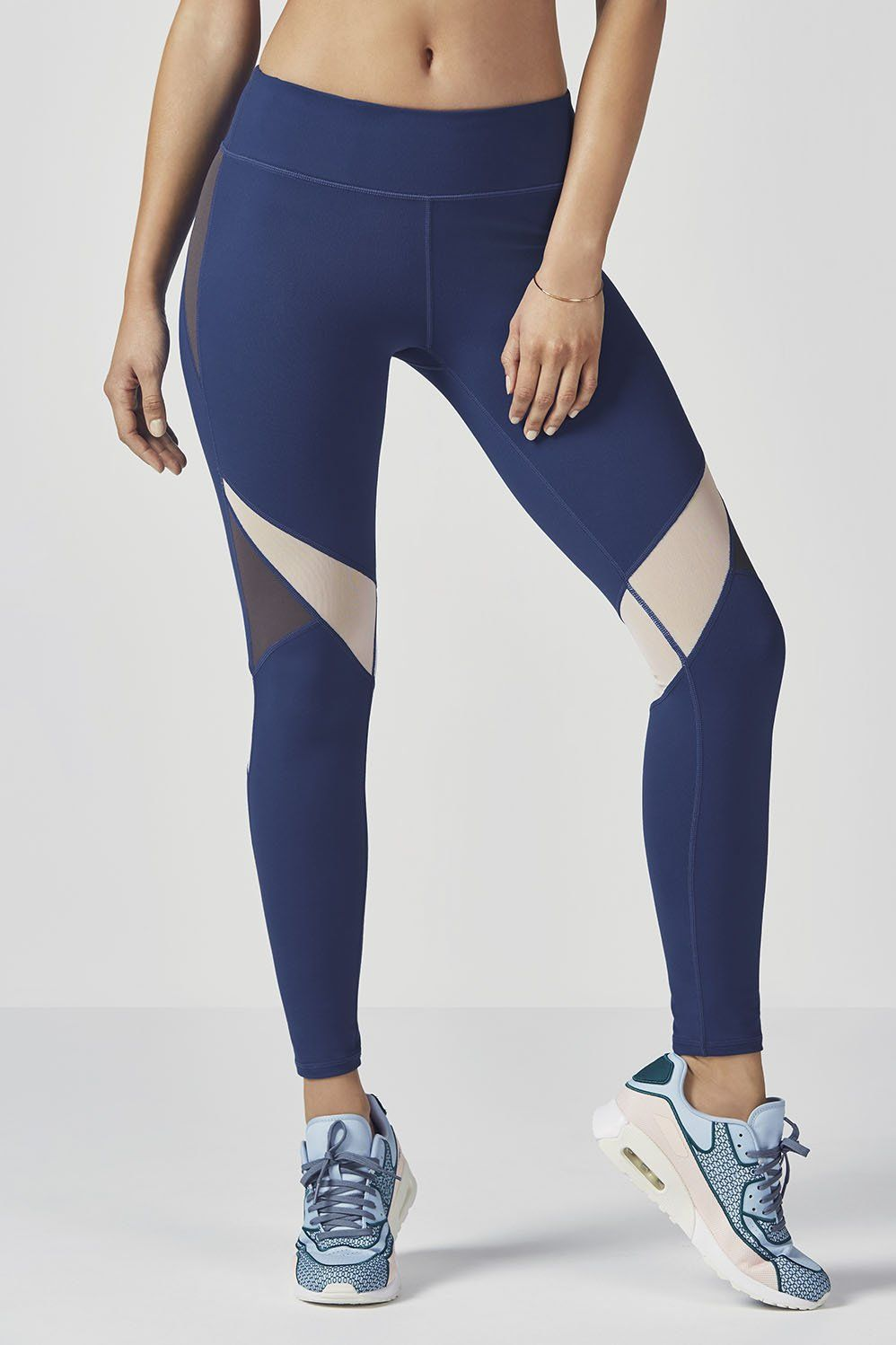 a38dea3867c9c3 Power up your performance in our color blocked compression leggings with  wraparound power mesh panels, UPF 50+ sun protection and sweat-wicking  technology.