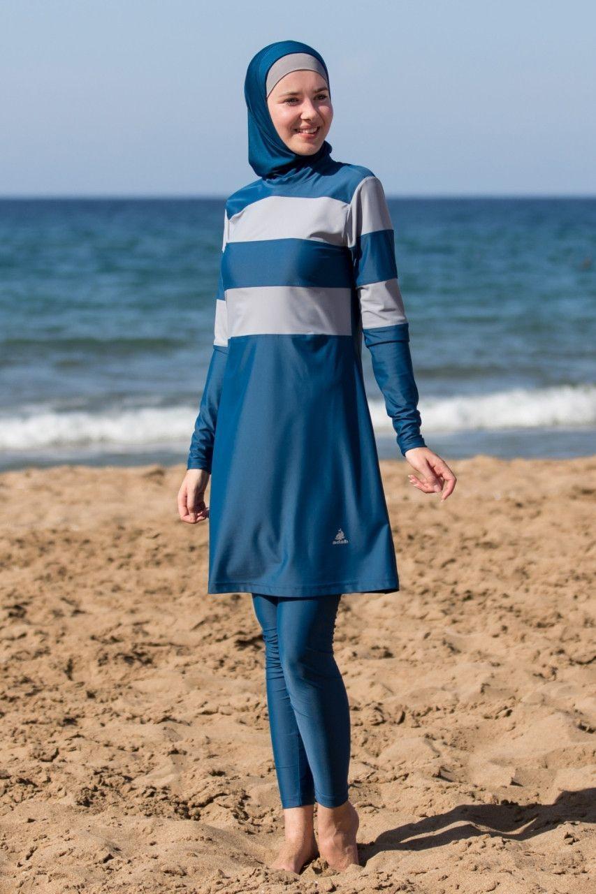 3373c8bc86384 Modest Outfits · 2017 Adabkini ASYA Women s Swimsuit Full Cover Hijab  Burkini Islamic
