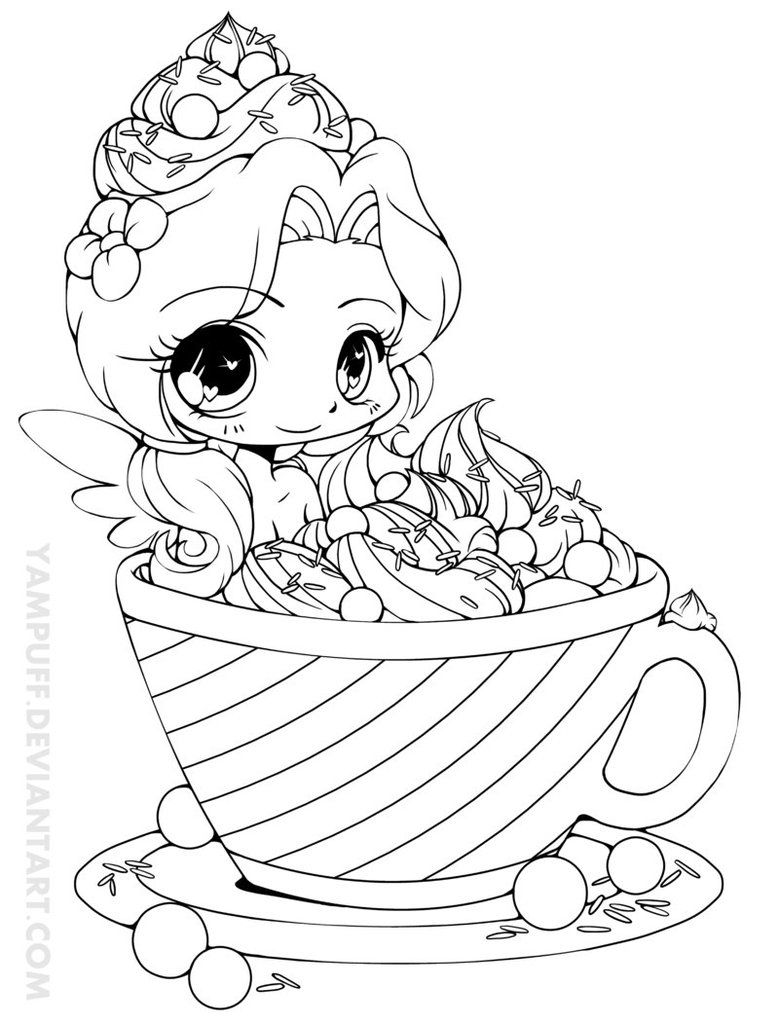 Hot Cocoa Emiko Lineart by YamPuff on DeviantArt Chibi