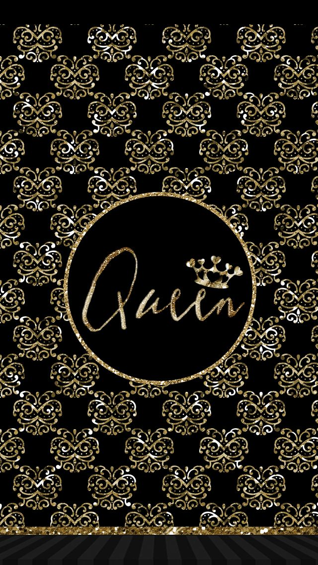 Pretty Queen Wallpaper Gold Black