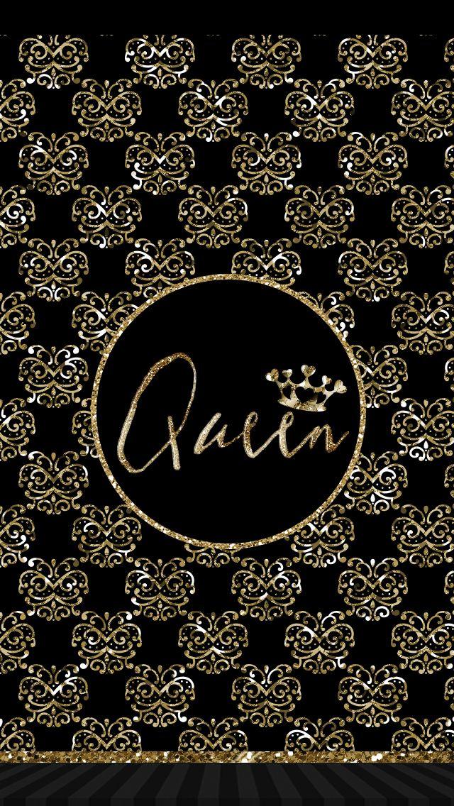 Pretty queen wallpaper gold black | ::Pretty Wallpapers:: | Queens wallpaper, Wallpaper iphone ...