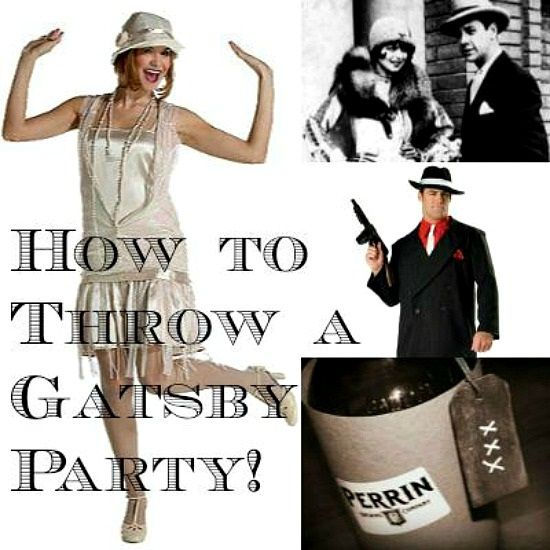 How To Throw a Great Gatsby Party including video on how to do the Charleston. Ideas for decorations, food, drinks, clothing, etc. good ideas,