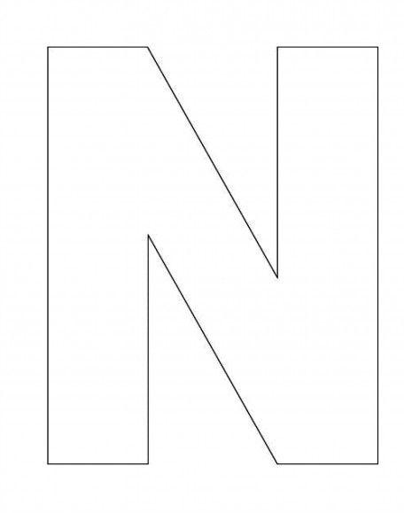 alphabet letter n template for kids alphabet printable alphabet letters alphabet letter. Black Bedroom Furniture Sets. Home Design Ideas