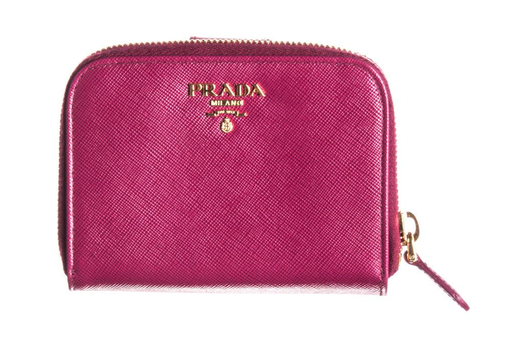 2f53233c3800 PRADA Ametista Pink Saffiano Metal Coin Purse Zippy Wallet #fashion  #clothing #shoes #