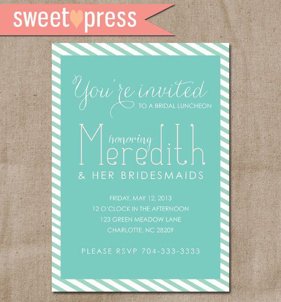 Printable Bridesmaids' Luncheon Invitation  by sweetpressStudio, $15.00