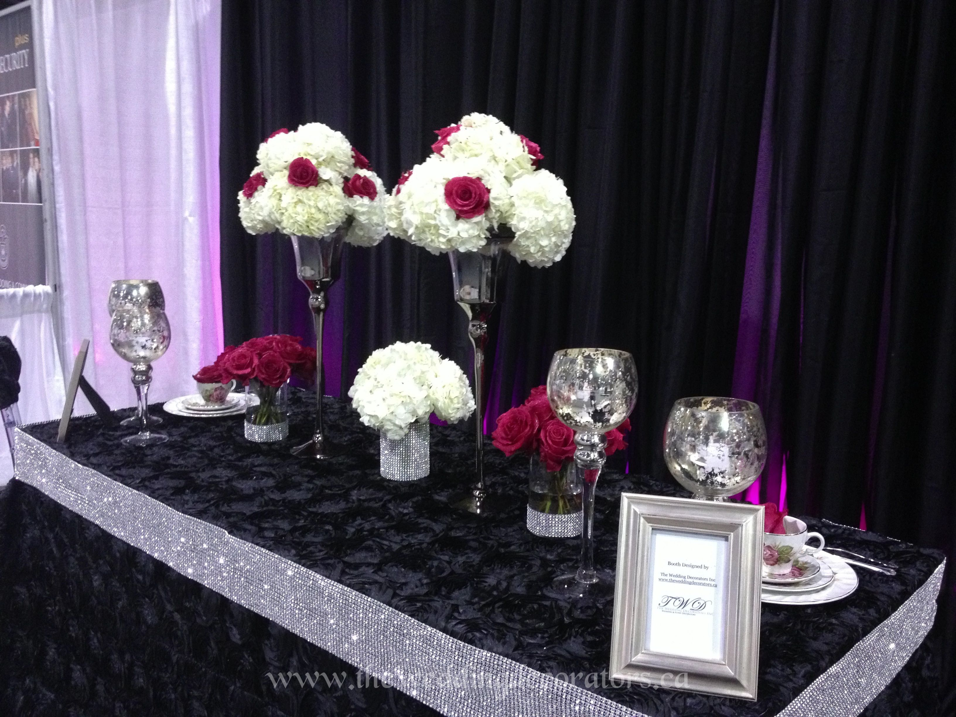 Black Silver Hot Pink Wedding Decor For Our Show Booth Black