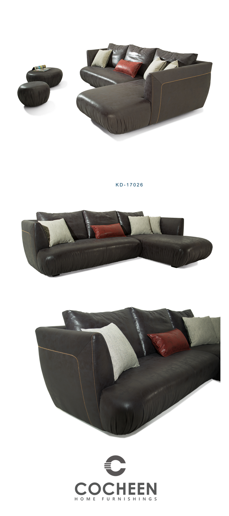 Newluxuryclassiceuropeanstyle Sofa Pu Cornersofa Sectional Black Ottoman With Images Contemporary Furnishings Fabric Sofa Current Design Trends