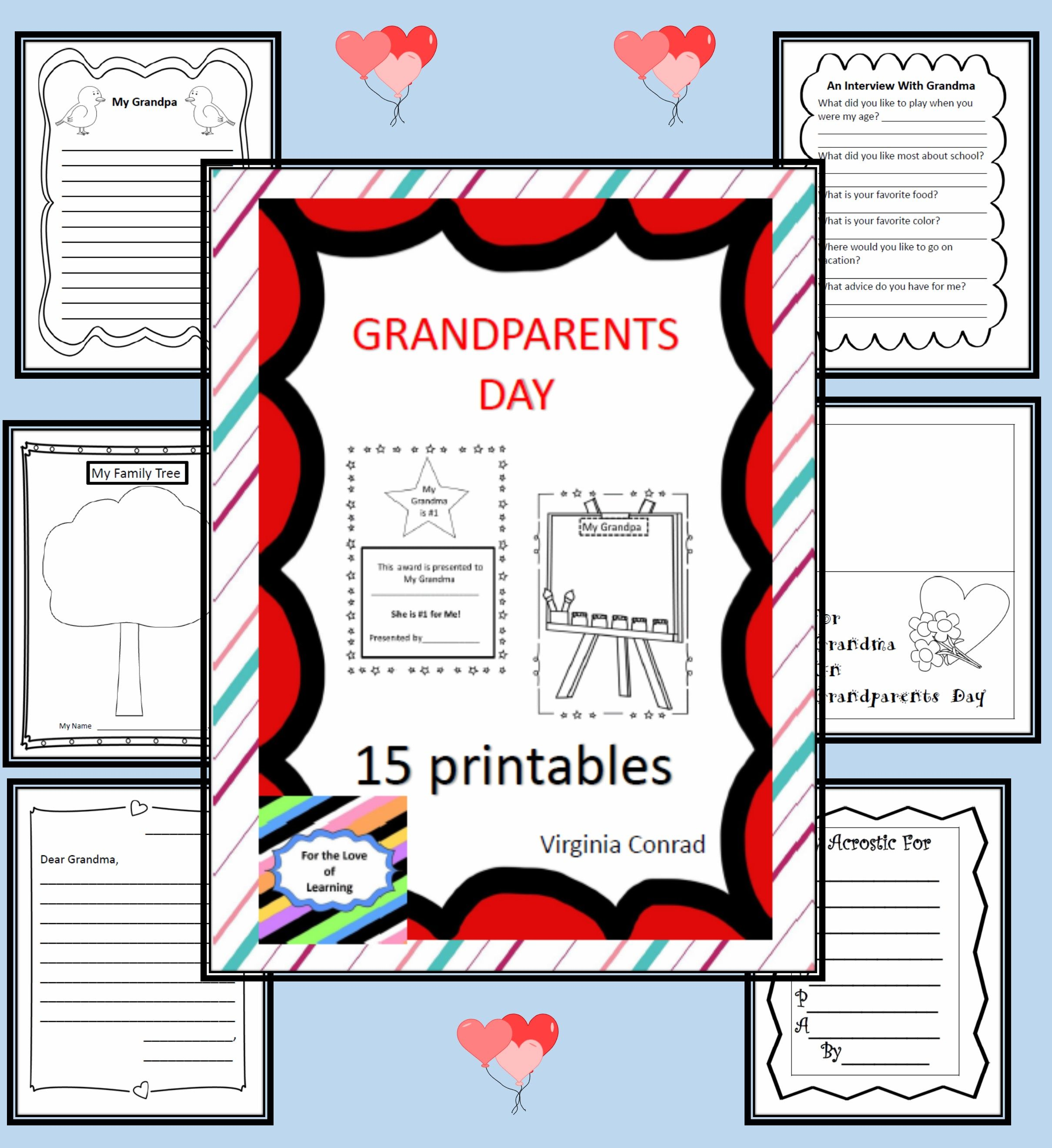 Grandparents Day 15 Printables